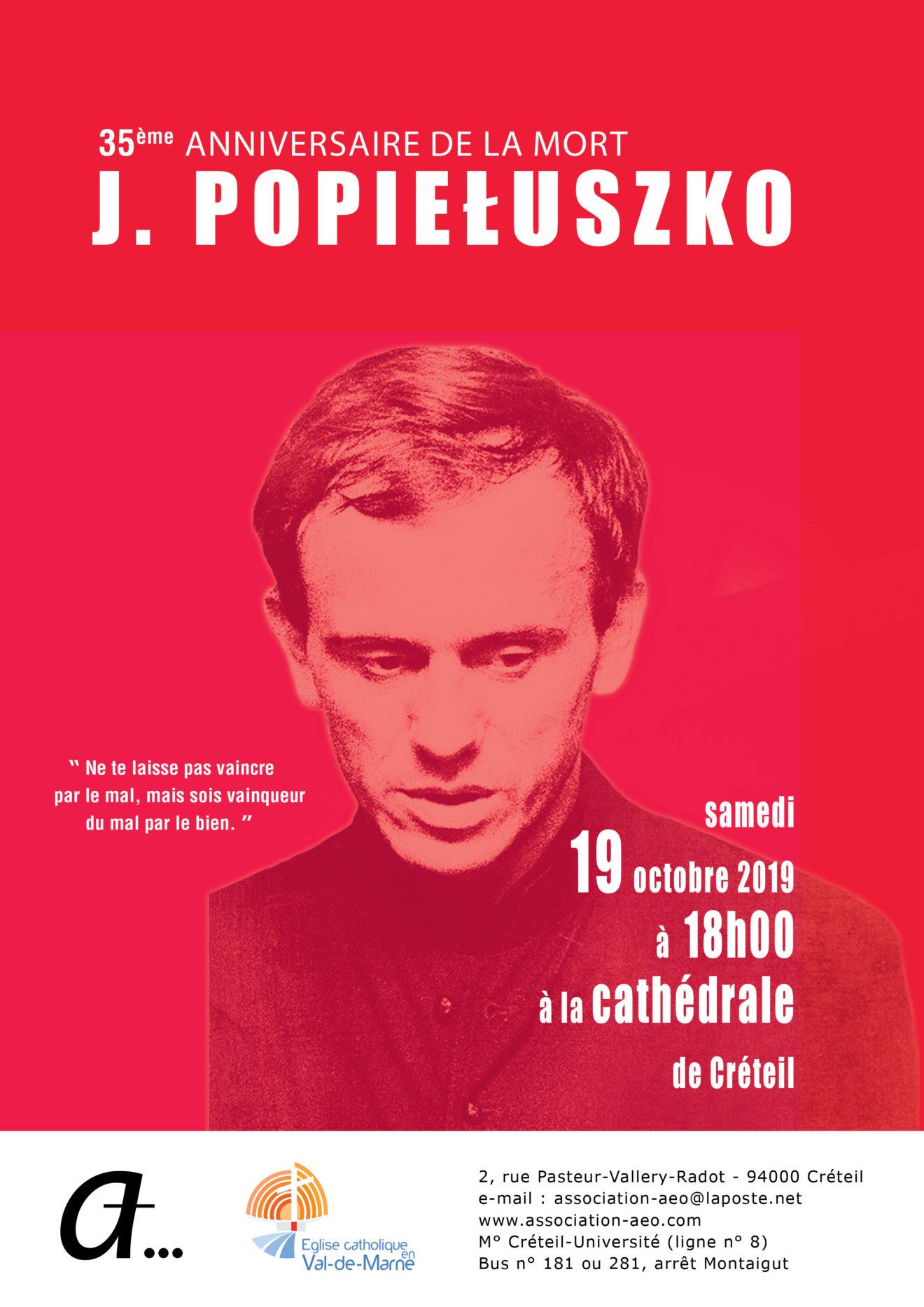 Messe anniversaire du bienheureux Jerzy Popieluszko