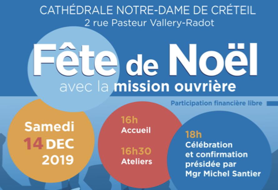 Samedi 14 décembre : Fête de Noël avec la mission ouvrière