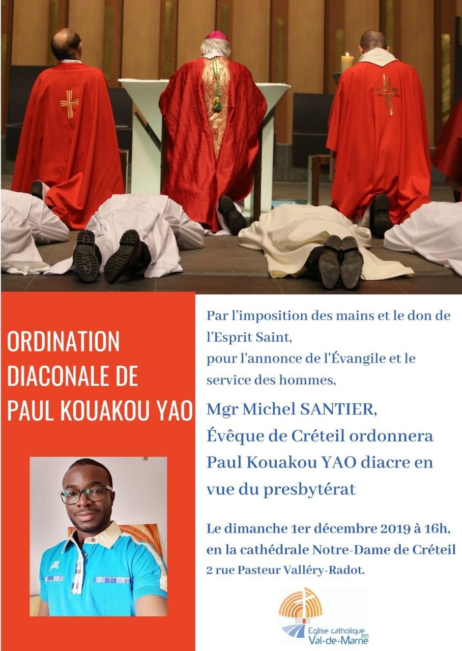 Ordination diaconale en vue du presbytérat de Paul Kouakou Yao- 1er décembre 2019