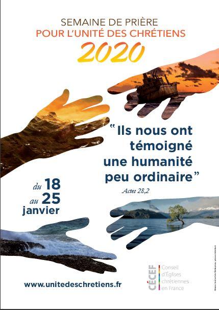 Semaine de prière pour l'unité des chrétiens : du 18 au 25 janvier 2020