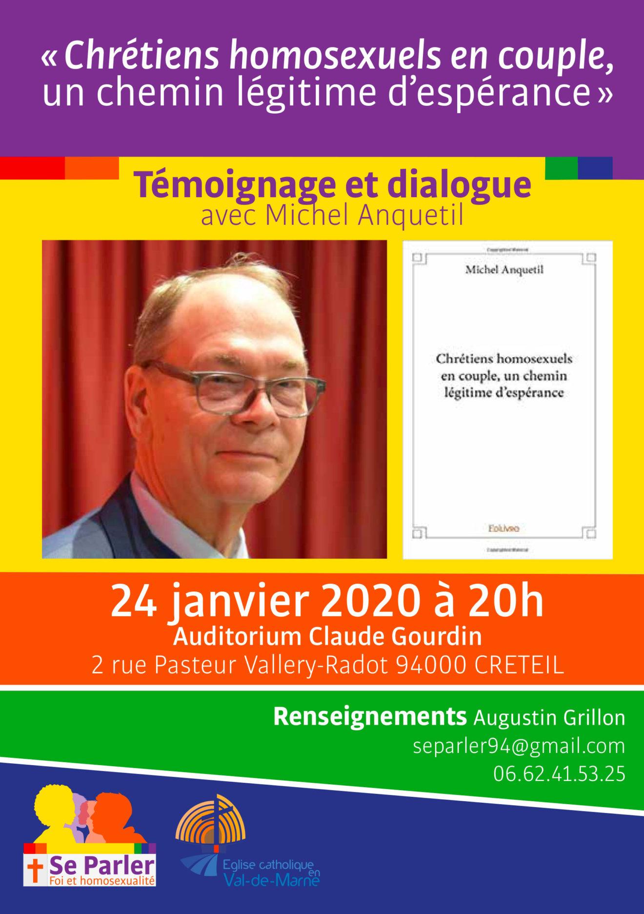 """Rencontre avec Michel Anquetil. """"Chrétiens homosexuels en couple, un chemin légitime d'espérance"""""""