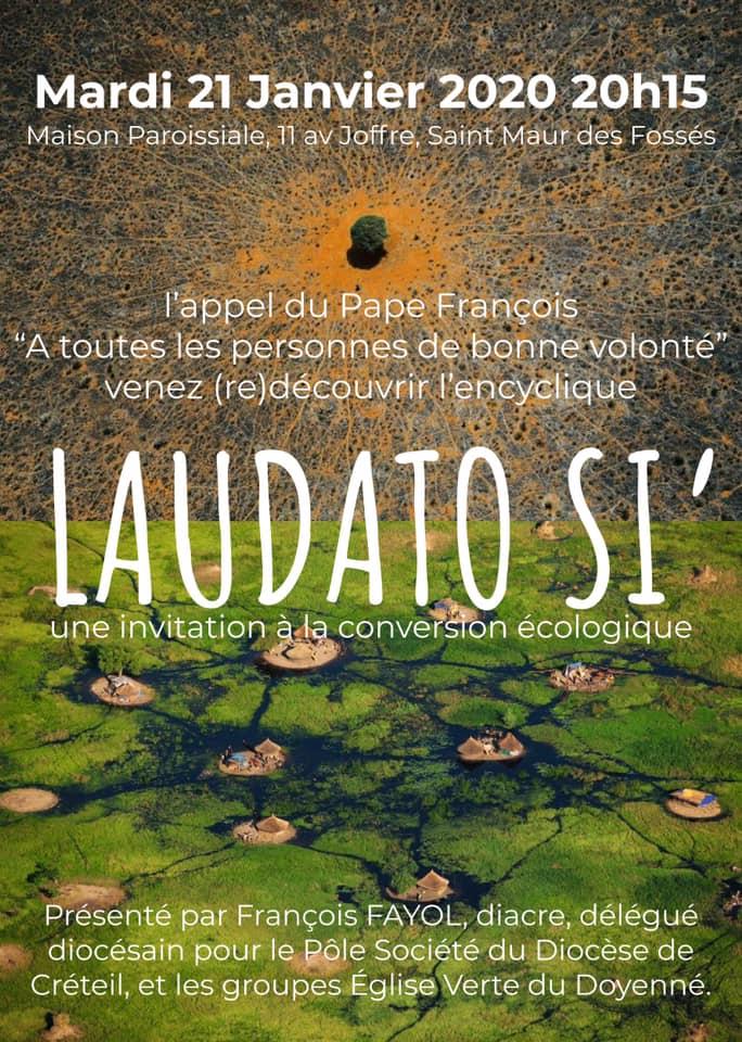 Conférence : Laudato Si'. Une invitation à la conversion écologique