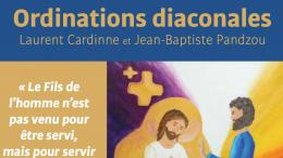 Ordinations diaconales de Laurent Cardinne et de Jean-Baptiste Pandzou dimanche 6 décembre. Revoir la célébration