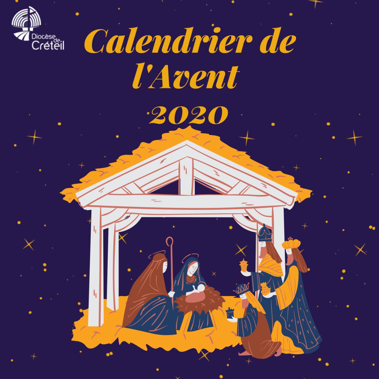 Calendrier de l'Avent 2020 : en chemin pour noël avec le diocèse
