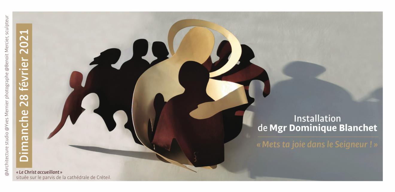 Messe installation Mgr Blanchet visuel invitation