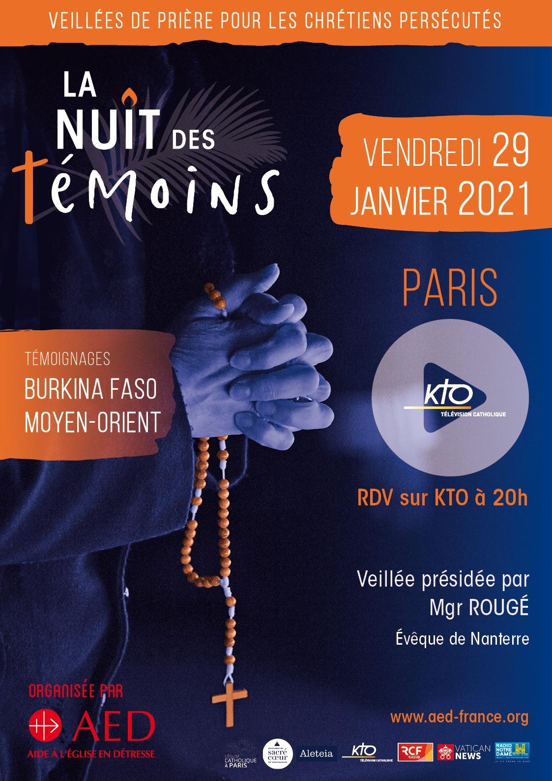 La nuit des témoins 2021 : vendredi 29 janvier 2021