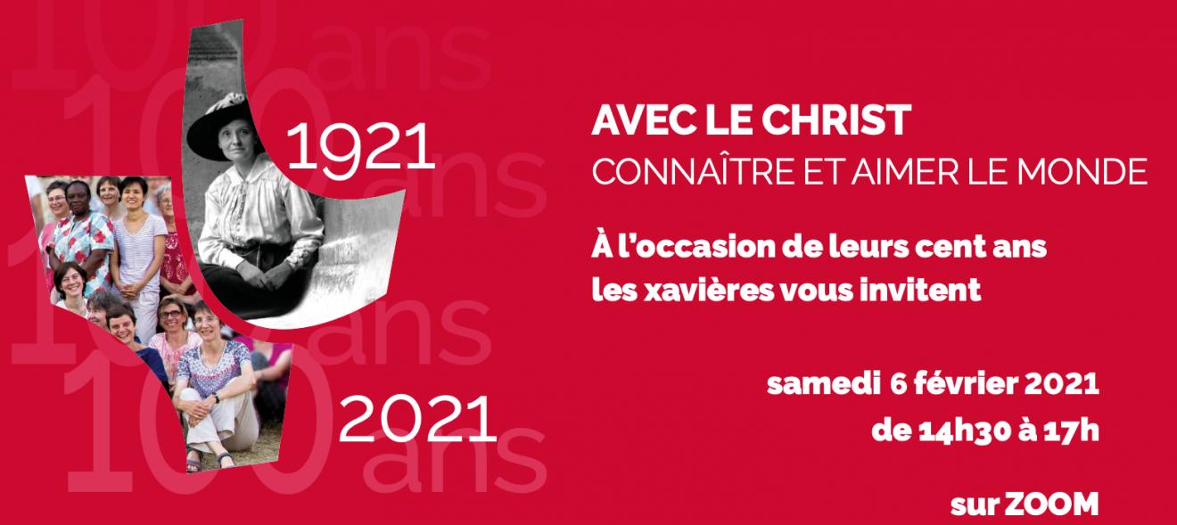 Centenaire des Xavières : invitation au forum d'ouverture le samedi 6 février 2021