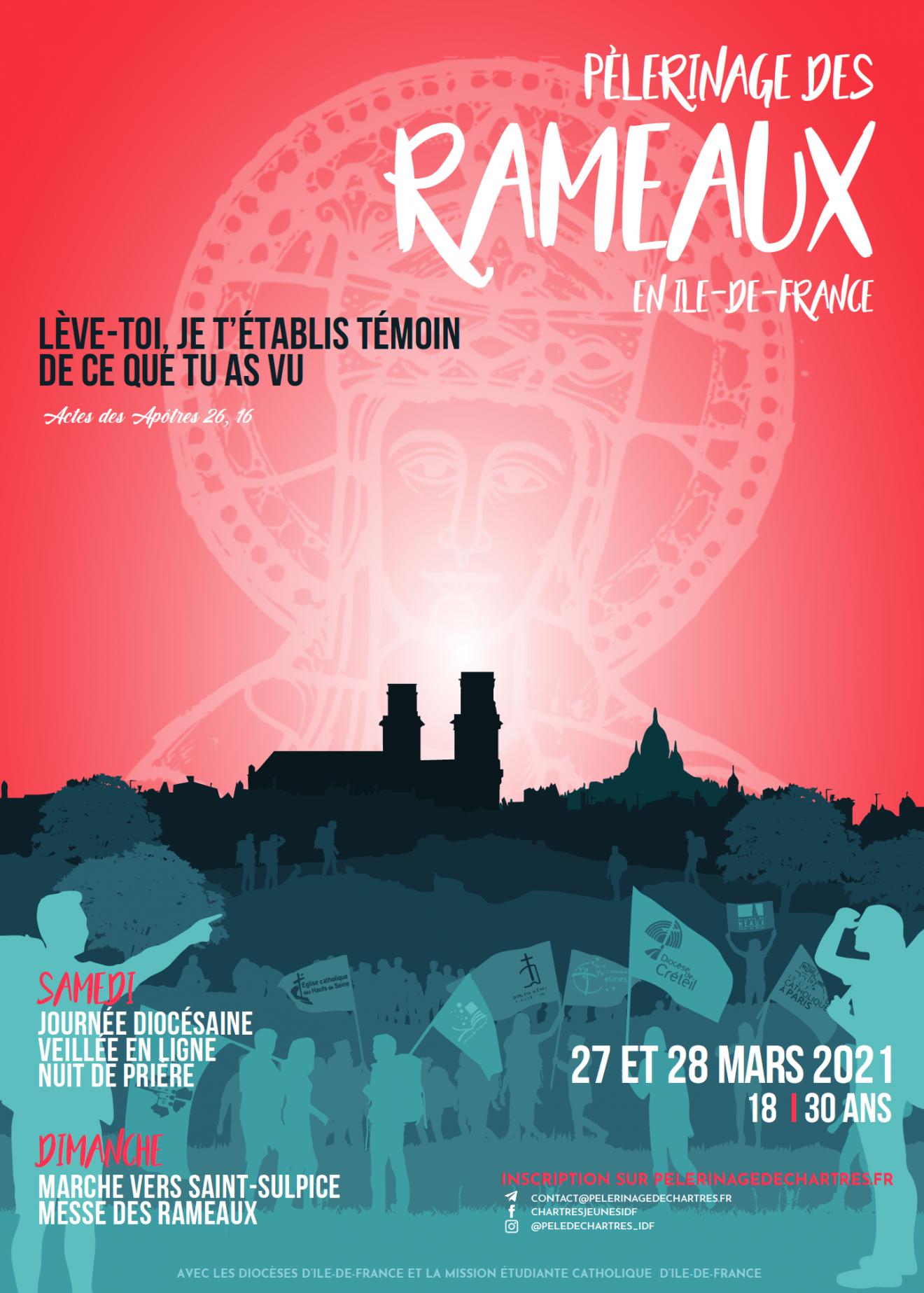 Pèlerinage de Chartres 2021 des jeunes d'Ile-de-France - dimanche 28 mars 2021