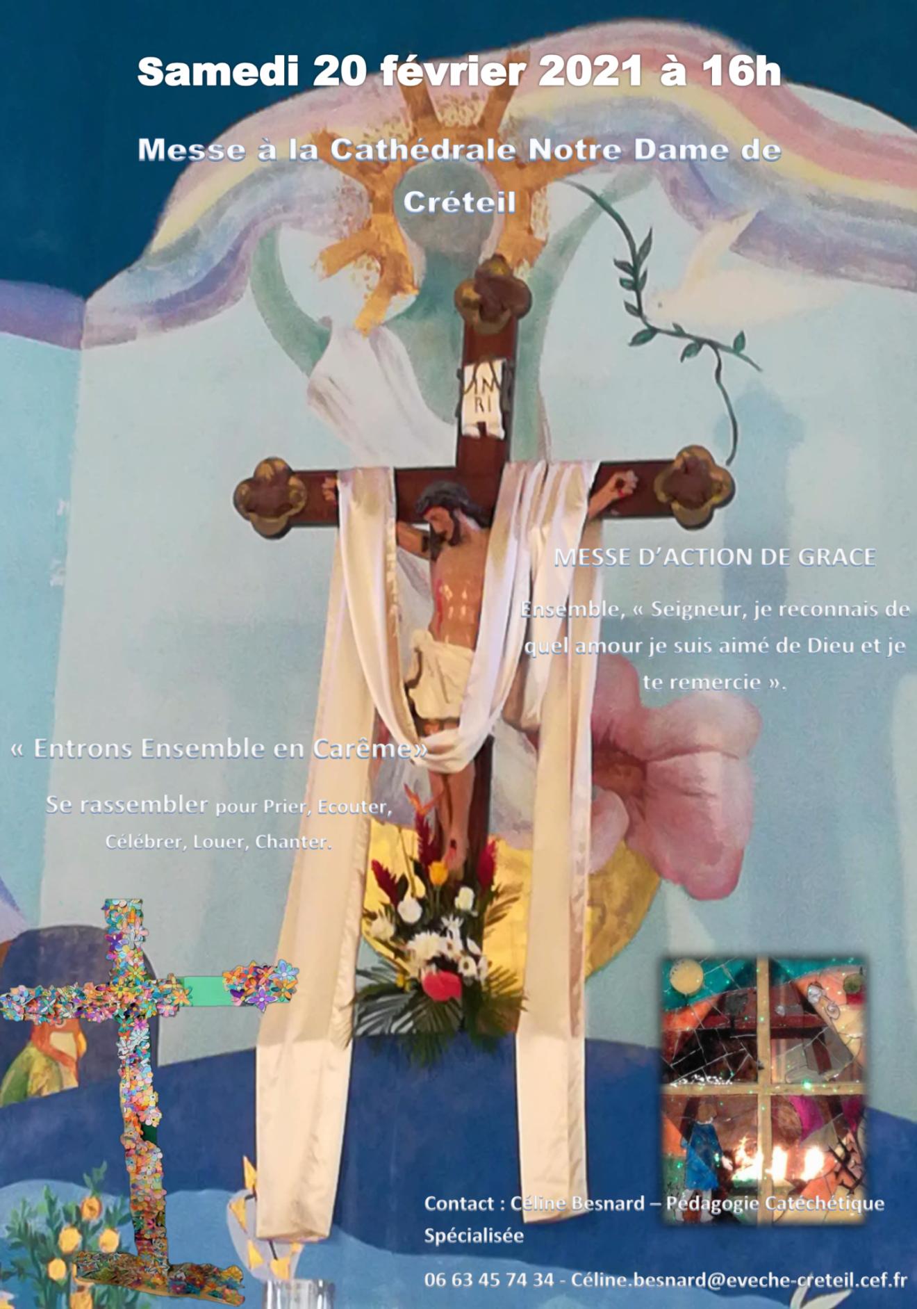 Messe d'action de grâce le samedi 20 février- Entrée en Carême