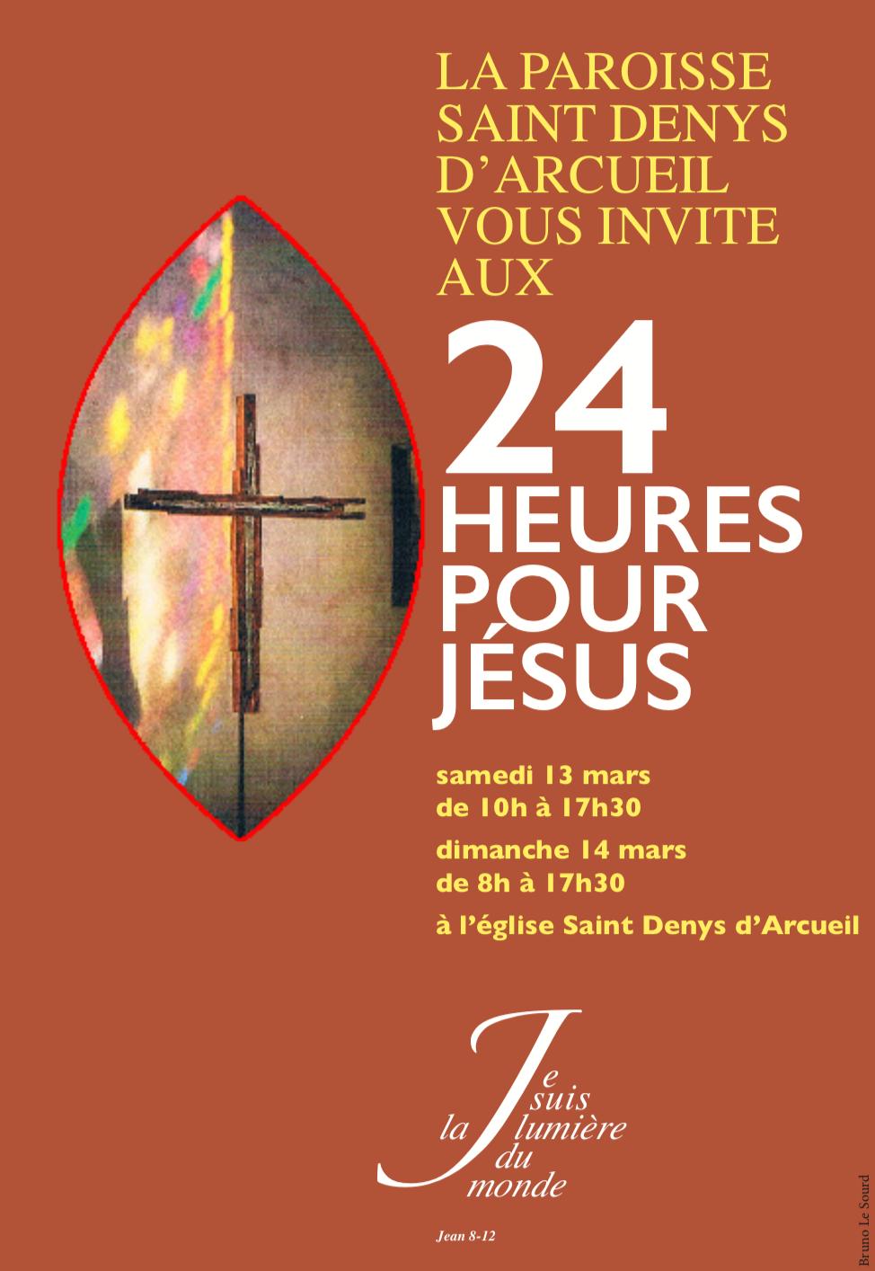 """Week-end """"24h pour Jésus"""" les 13 et 14 mars et proposition d'Ecole de prière"""