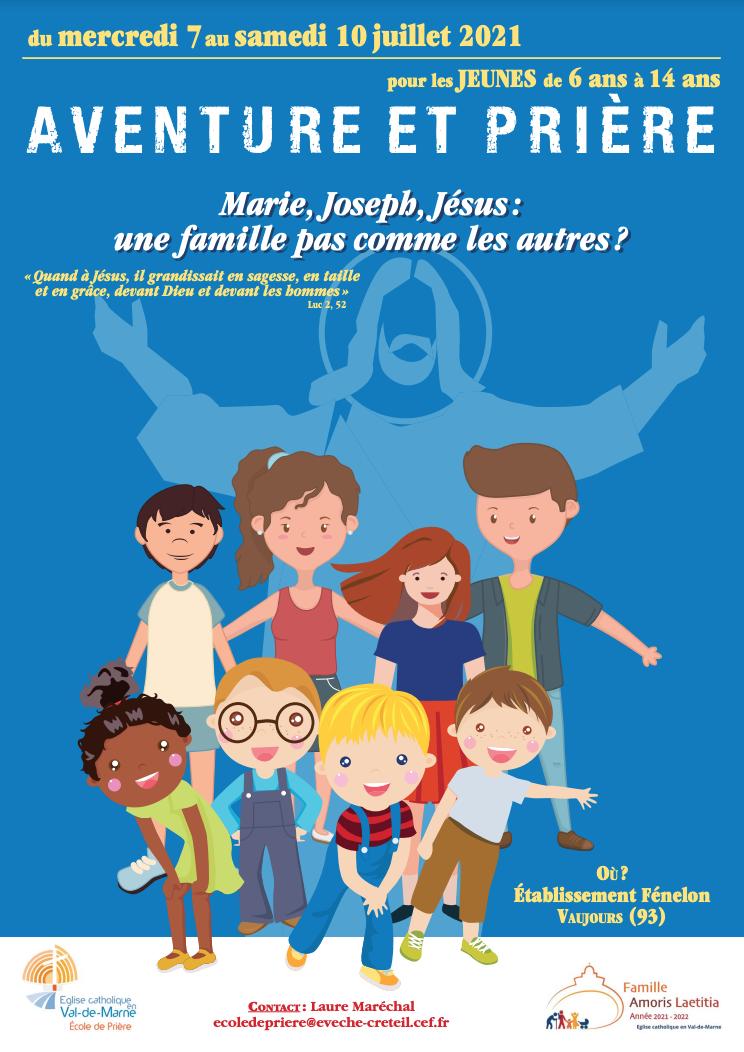 Aventure et Prière? Un mini camp pour les 6-14 ans du 7 au 10 juillet 2021