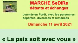 Marche SeDiRe : Dimanche 11 avril 2021