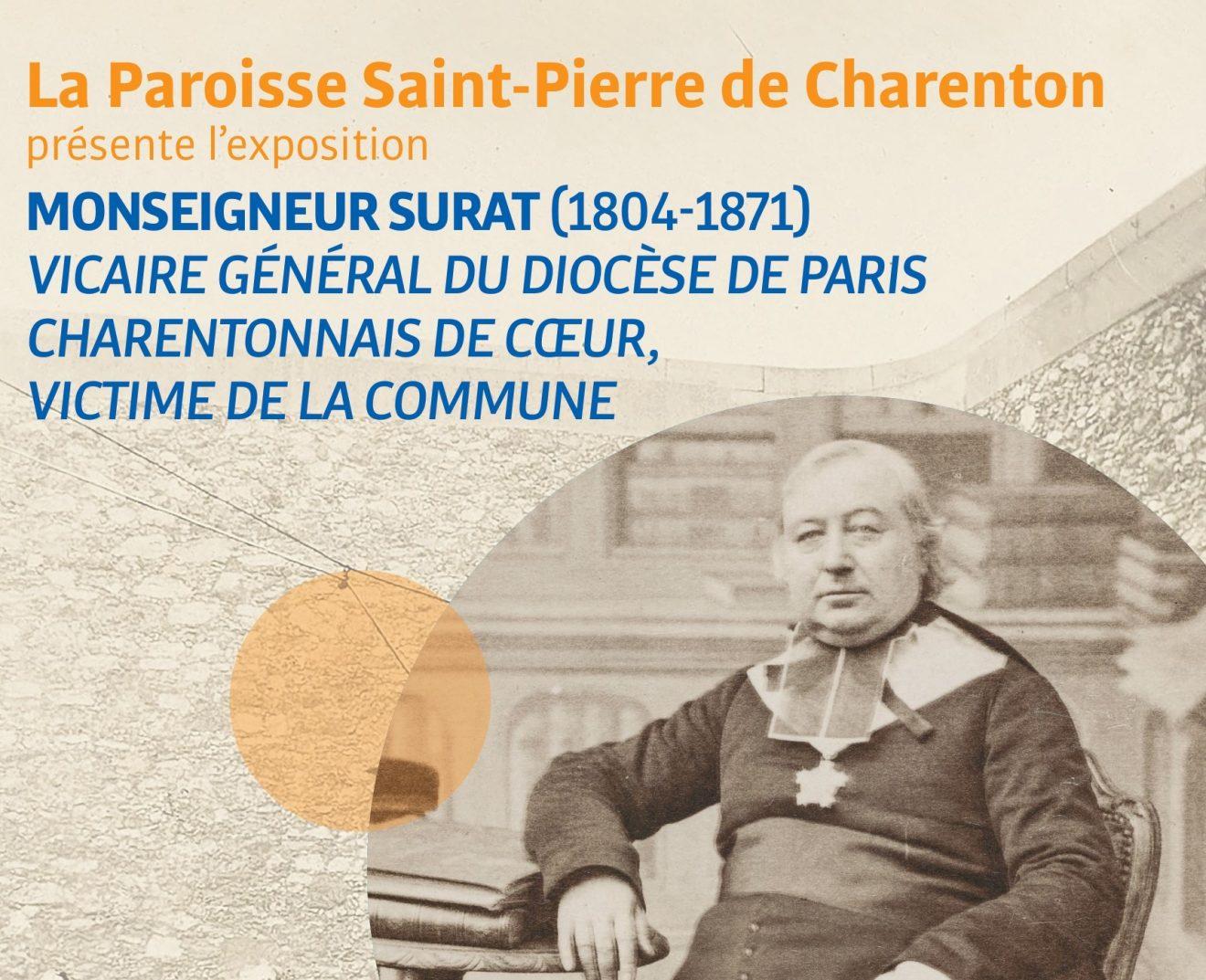 """Exposition """"Mgr Surat, charentonnais de coeur, victime de la Commune"""""""