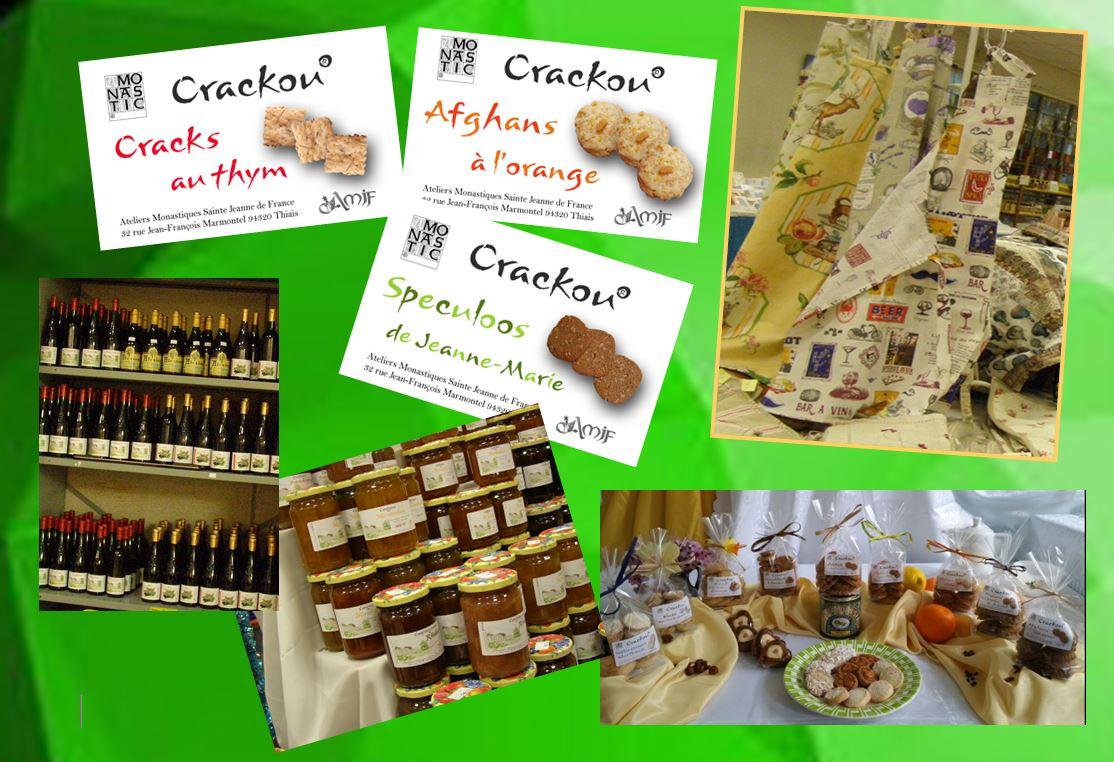 Vente de produits au monastère de l'Annonciade