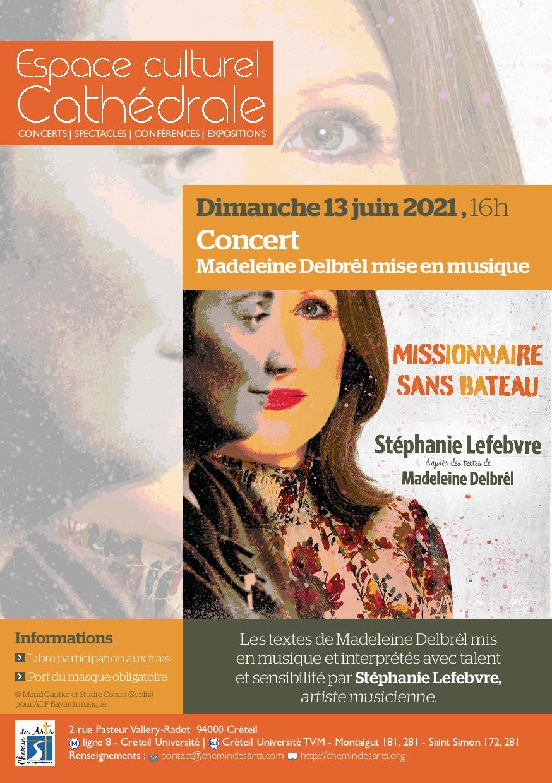 Concert Madeleine Delbrêl mise en musique dimanche 13 juin