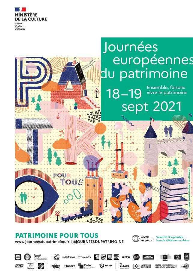Journées Européennes du Patrimoine les 18 et 19 septembre 2021
