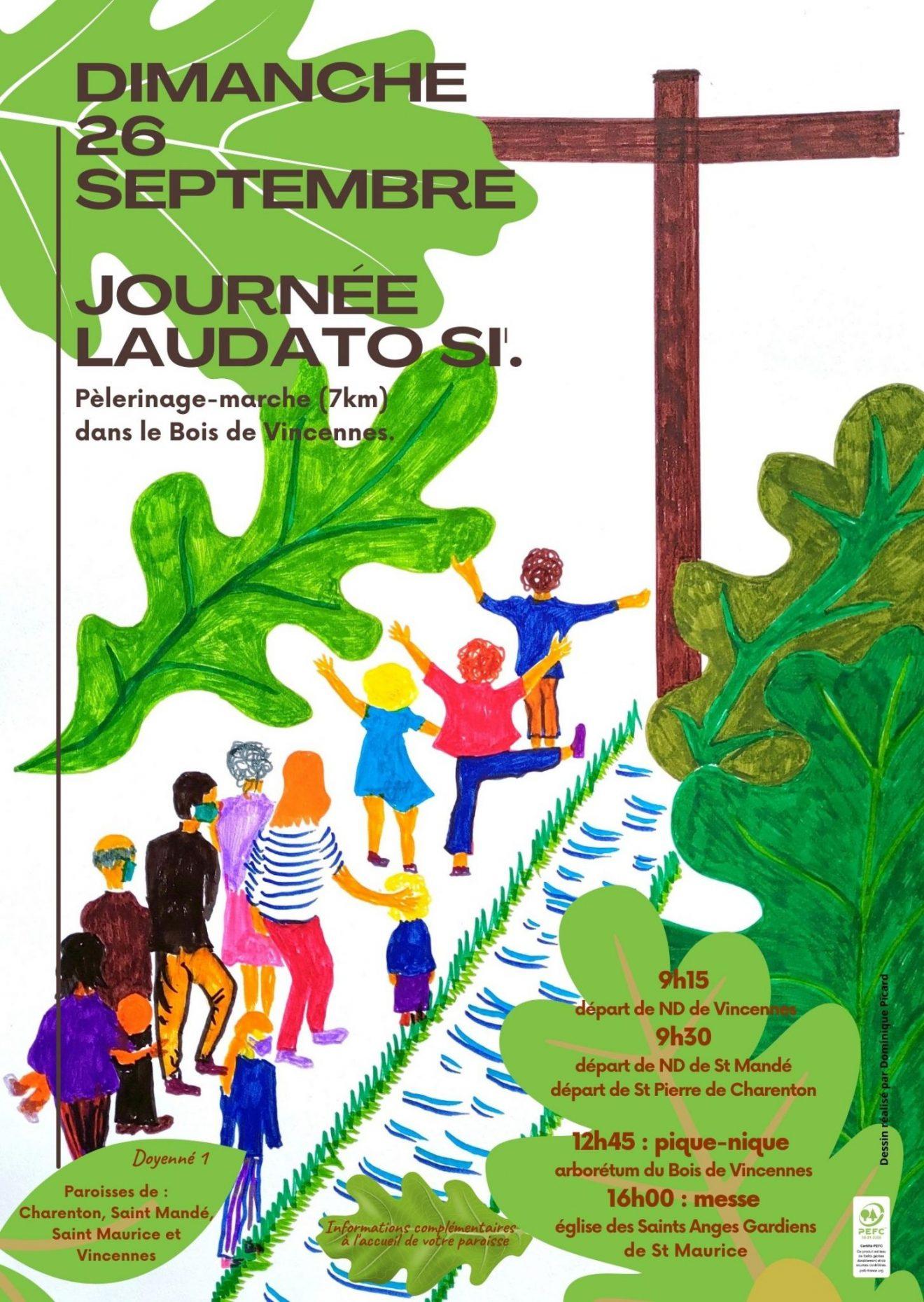 Journée Laudato Si le 26 septembre : pèlerinage-marche dans le bois de Vincennes