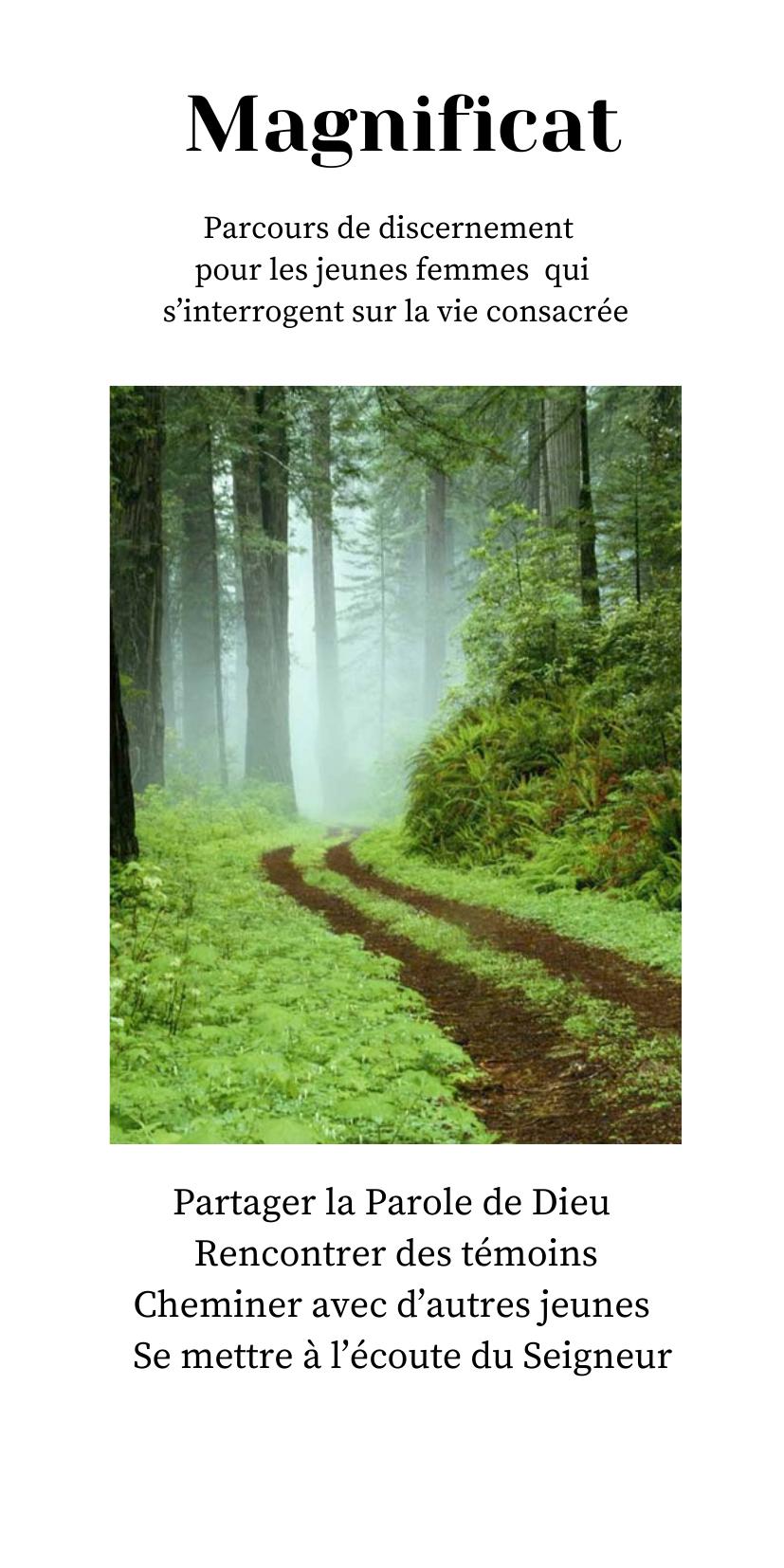 Magnificat : un parcours pour discerner la vie consacrée