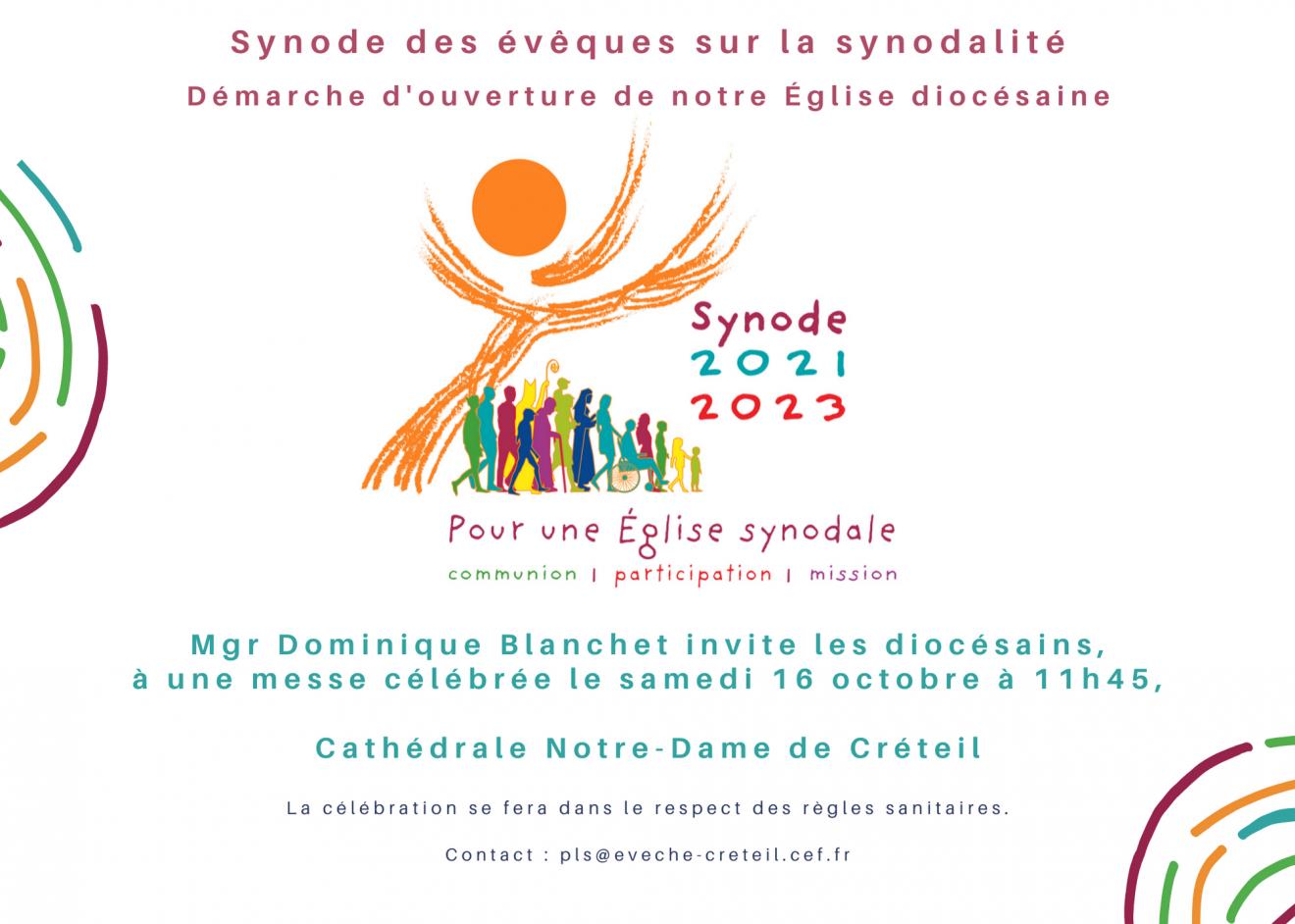 Synode des évêques :  Messe de lancement de la phase diocésaine samedi 16 octobre 2021