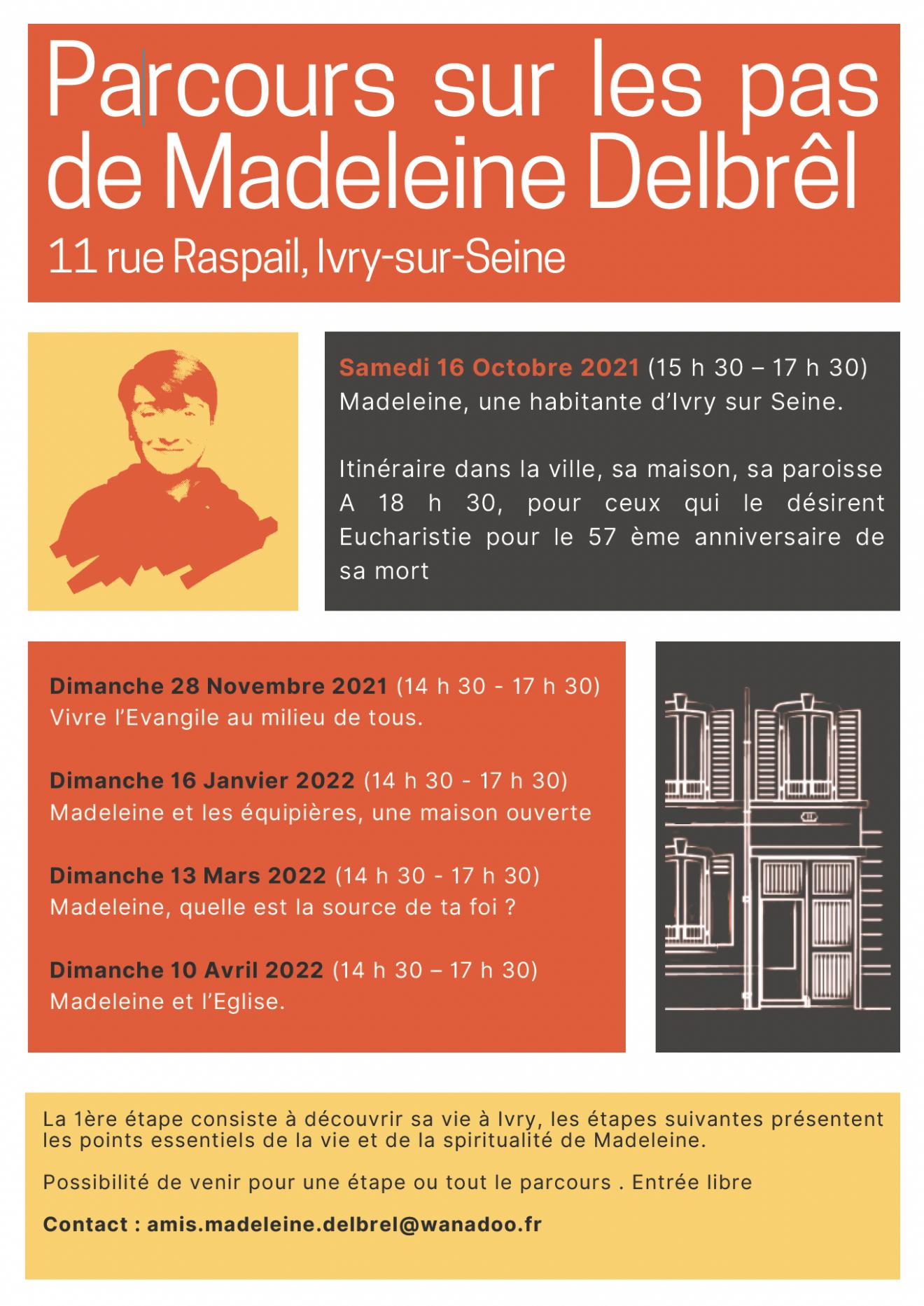 """Parcours """"Sur les pas de Madeleine Delbrêl"""" : 5 dates pour découvrir sa vie et sa spiritualité"""